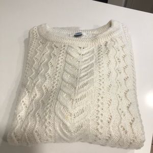 Old Navy Cream Crew Neck Sweater